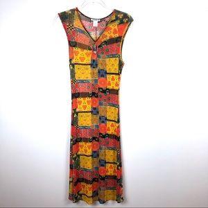 Vivienne Tam Vintage Patchwork Dress Size 2 NWT